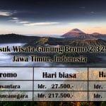 Harga Tiket Masuk Wisata Gunung Bromo