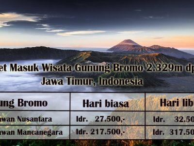 Harga Tiket Masuk Wisata Gunung Bromo TERBARU 2018