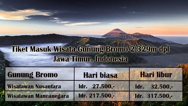 Harga Tiket Masuk Wisata Gunung Bromo Terbaru 2019