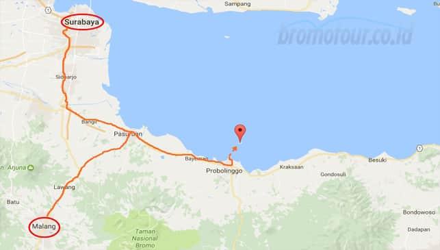 Akses Jalan Menuju Pulau Gili Ketapang Probolinggo