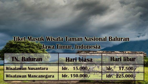Harga Tiket Masuk Taman Nasional Baluran Situbondo