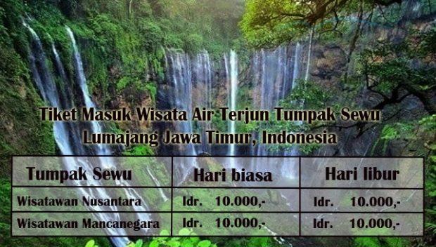 Harga Tiket Masuk Air Terjun Tumpak Sewu Lumajang