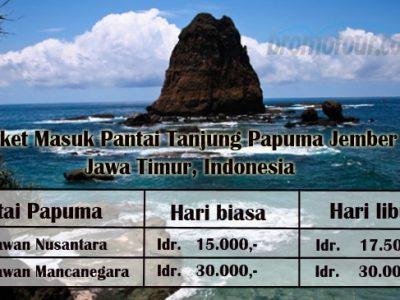 Harga Tiket Masuk Wisata Pantai Papuma Jember