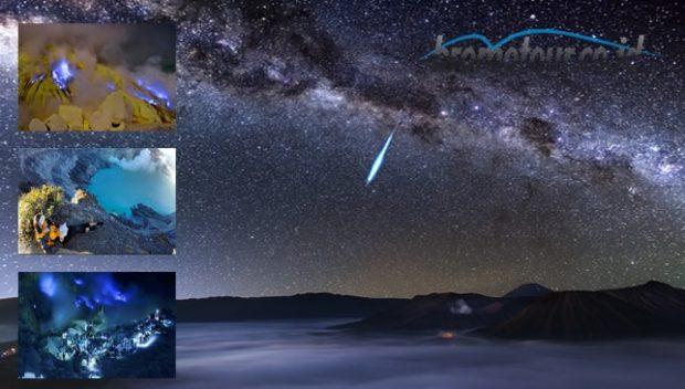 Paket Wisata Bromo Milky way Kawah Ijen Blue fire 3 hari  2 malam